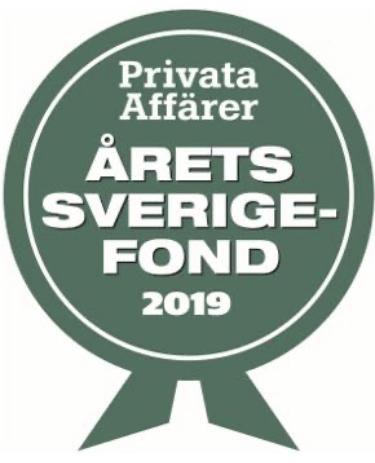 ODIN Sverige fick silverplats i Privata Affärers Årets Sverigefond